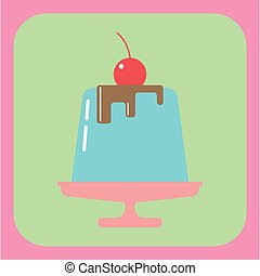 Candy card with a big blue jelly cr
