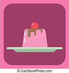 Candy card with a big jelly cream c