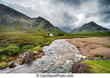 The River Coupall in the Scottish Highlands - A traditional...