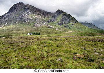 A Croft in the Highlands - A croft at Buachaille Etive Mor...