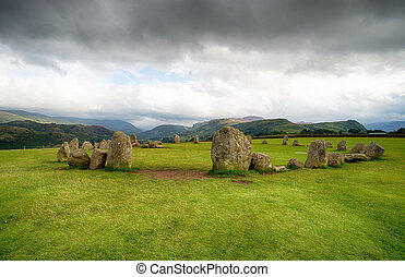 Castlerigg Stone Circle - The Castlerigg stone circle in the...