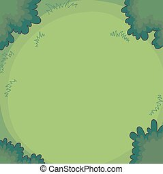 Gree background bushes and grass. - Gree background bushes...