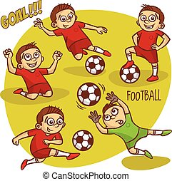 Football Soccer Player Set