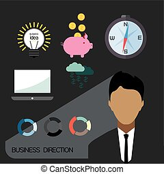 Business direction infographic with