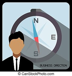 Business direction with a person an