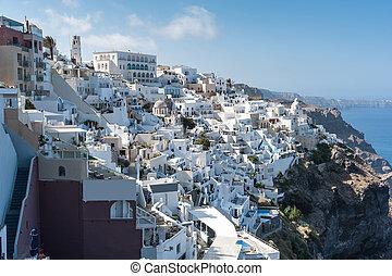 Beautiful view of Fira - Santorini - Beautiful view of Fira...