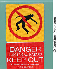 Danger keep out sign - Danger keep out warning sign