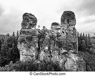 Sandstone rock formations