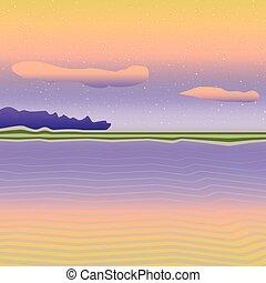 Bright sea landscape