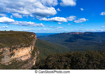 Blue Mountains National Park lookout - Mountain landscape...