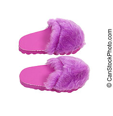 Fuzzy Pink Slippers - Fuzzy pink slippers to wear at home...