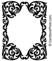 Elegant decorative frame - Black vintage frame with a...