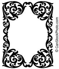 Elegant decorative frame - Black vintage frame with a...