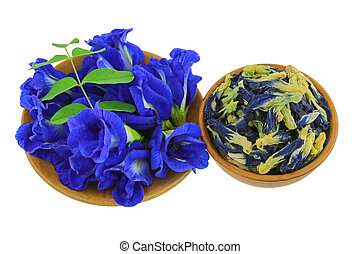 Fresh and dried Blue Butterfly Pea - Fresh and dried...