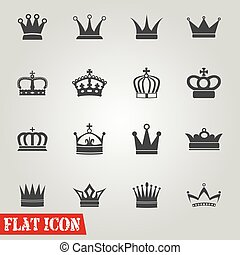 Set of Crowns Icons