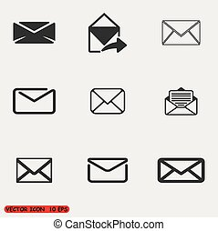 Set of icons for messages