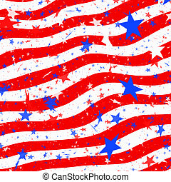 stars and stripes us flag - abstract representation of stars...