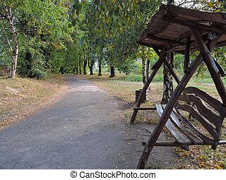 arbor in park