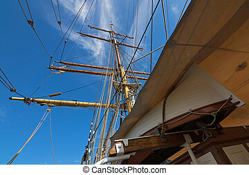 Jolly boat and James Craig mast and rigging - Partial view...