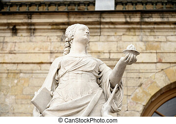 Statue Vigilance near Big Gatchina Palace. - Statue...