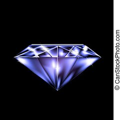 abstract purple gem - black background and the purple...