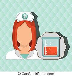 nurse woman tube lab chemistry