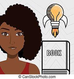 woman books idea reading