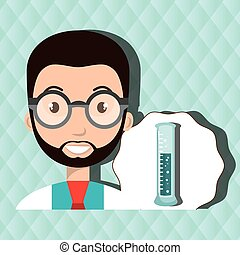 doctor laboratory tube chemistry vector illustration graphic