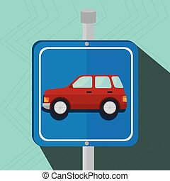 parking lot symbol notice vector illustration design