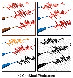 seismograph - stylized vector illustration on the theme of...
