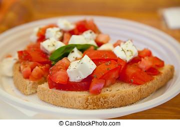 Bruschetta - Delicious tomato bruschetta