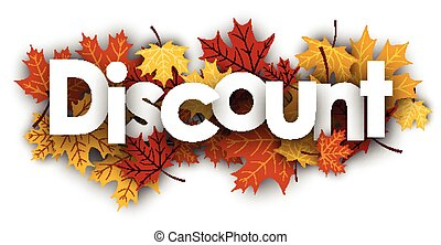 Discount background with maple leaves.