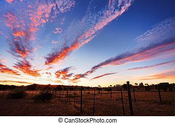 Timelapsed African sunset taken in Kgalagadi