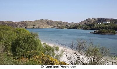 Morar coast Scotland UK pan - Morar coast Scotland UK...
