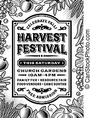 Vintage Harvest Festival Poster - Vintage harvest festival...