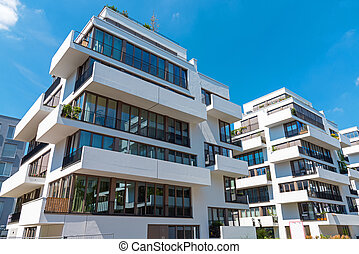 Modern townhouse with balconies - Modern townhouse with many...