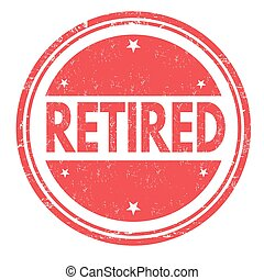 Retired sign or stamp - Retired grunge rubber stamp on white...