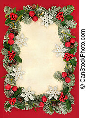 Christmas Background Border - Christmas abstract background...