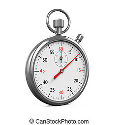 Stopwatch Timer Isolated - Stopwatch Timer isolated on white...