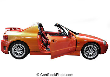 sports car - little sports car with modern chameleonic tint...