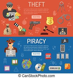 Piracy and Theft Banners - Piracy and Theft Horizontal...