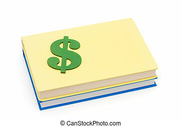 Education Scholarships - A dollar sign sitting on books...