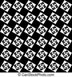 Seamless pattern of white squares on a black background....