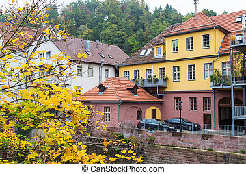 Autumn Calw city in Germany - Autumn city landscape in Calw,...