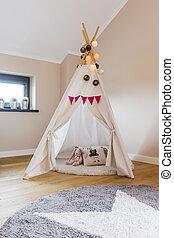 Creative and cosy shelter for a little Indian - Childen's...