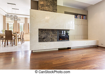 Modern shapes in a posh interior - Rectangular marble...