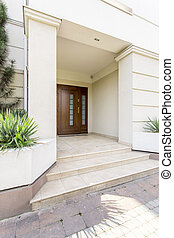 Massive colums to support luxurious house entrance -...