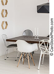 Marvelous minimalist dining room decor - Fragment of a...