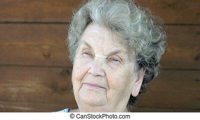 Portrait of senior woman with thoughtful look - Elderly...