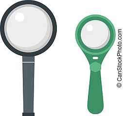 Magnifier search loupe icon - Optical magnifier loupe search...